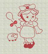 ZDBJJ174-8 Nursery Rhymes Redwork-Single