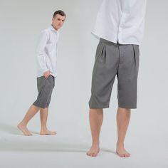Мужской гардероб требует шорты к лету!!! ☀ Casual дизайн модели позволяет комбинировать шорты-бермуды GRASSUkraine как со спортивными, так и официальными предметами гардероба. Они отлично подойдут для отдыха и любого официального случая.  Цена 890 грн  Ткань: 98% хлопок (или шерсть 98% - на выбор)