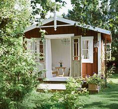 Still dreaming of a small wooden house for the garden.
