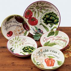 Certified International Botanical Veggies 5-piece Pasta Set (Bowls ...