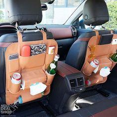 car decor Leather Car Back Seat Organizer Hippie Auto, Hippie Car, Car Interior Decor, Car Interior Accessories, Car Interior Design, Maserati Ghibli, Aston Martin Vanquish, Bmw I8, Volkswagen