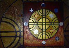 Kultrun mapuche ( simbolo :calendario Lunar Mapuche)