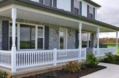 Small Front Patch Landscaping Ideas | front porch railing design ideas 453x300 Beautiful Front Porch Railing ...