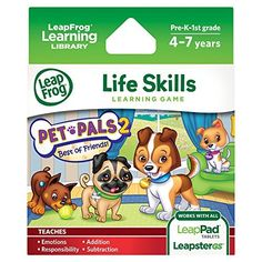 LeapFrog Pet Pals 2 Learning Game (works with LeapPad Tablets, LeapsterGS, and Leapster Explorer), http://www.amazon.com/dp/B004MWL07O/ref=cm_sw_r_pi_awdm_x_MPofybG3CZAAY
