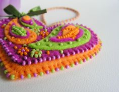 Luscious colors and beadwork