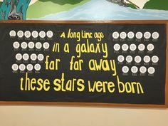 Star wars birthday bulletin board