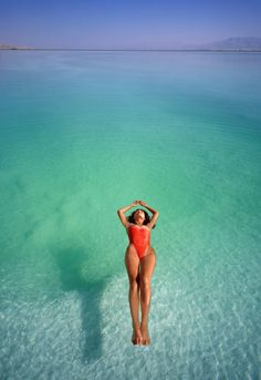 Dead Sea, the lowest place in the world: high salt content allows you to float without sinking, mineral rich micro mist blocks harmful UV rays, preventing sunburn!