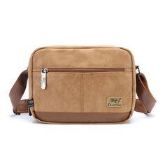 Gumstyle New Canvas Men Leisure Shoulder Bag Messenger Bag * Click image for more details.