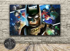 Lego Batman Game Kids Framed Canvas Print by ThelittlePrintRoom15