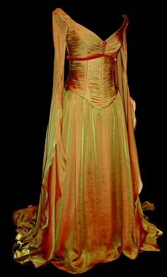 "Rossetti ""Flaming Autumn"" Gown.  Rossetti is a U.K. couture dressmaker.  Specializes in wedding gowns, tutus, and costumes.  Makes gowns not by size but to fit the client.  Can reproduce shown items closely (if not exactly)."