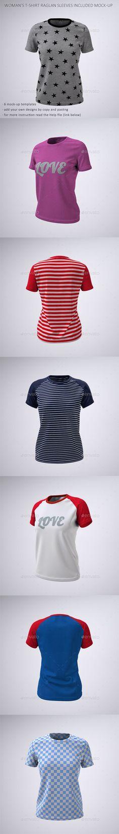 Download Woman S T Shirt With Short Or Raglan Sleeves Mock Up T Shirts For Women Clothing Mockup Raglan Sleeve Shirts