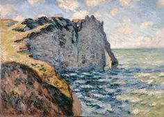 Claude Monet Poster - The Cliff Of Aval Etr Tat