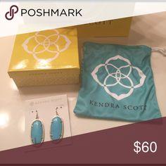 Kendra Scott Danette turquoise earrings Kendra Scott Danielle turquoise earrings.  New includes dust bag, box and shopping bag Kendra Scott Jewelry Earrings
