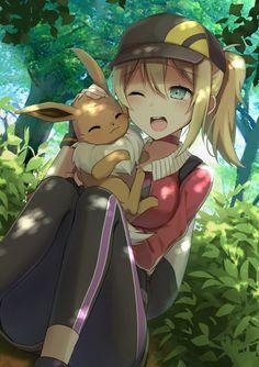 Artist: Pixiv Id 15124954   Pokémon Go   Eevee   Female Protagonist