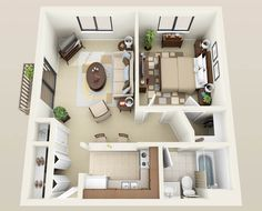 1bedroom -550 sqft..
