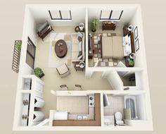 1bedroom -550 sqft..