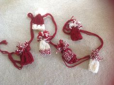 Knitted Mini Hat Garland by RubyHeartCrafts on Etsy
