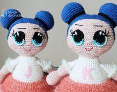 Boneca Lol da Bonek de Crochê – Passo a Passo grátis – Bonek de Crochê Crochet Gratis, Crochet Baby, Needlework, Doll Clothes, Hello Kitty, Diy And Crafts, Kawaii, Stitch, Dolls