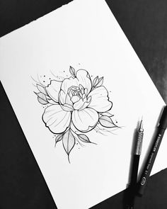 There is another craze is to draw patterns, flowers, mandala patterns in ink. Tattoo Sketches, Tattoo Drawings, Flower Tattoos, Tattoo Inspiration, Flower Designs, Flower Art, Tattoo Artists, Cool Tattoos, Tattoo Designs