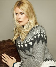 Claudia Schiffer teamed with the knitwear brand TSE to create a 17-piece cashmere capsule of pullovers, pants, skirts, sweater dresses, and cardigans.