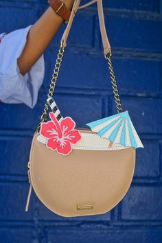 Coconut Drink Purse | Kate Spade vacation purse, summer crossbody purse, umbrella drink bag, kate spade outlet find