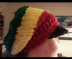 Rasta Hat for my niece  (my daughter is modeling)