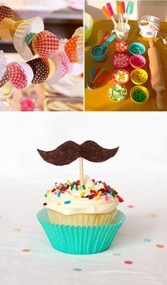 Kid's Birthday Party Cupcake Theme Inspiration