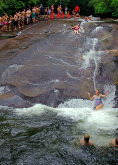 #SlidingRock in the North Carolina mountains near Asheville - Pisgah National Forest