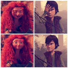 Hiccup : It's not funny. Merida : Of cores it isn't.