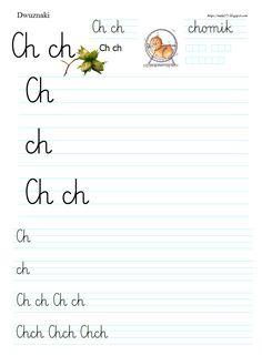 BLOG EDUKACYJNY DLA DZIECI Polish Language, Worksheets For Kids, Handwriting, Montessori, Math Equations, Education, School, Calligraphy, Hand Type