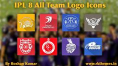 IPL 8 all team logos Png icons pack ~ Rkthemes   Download Free Themes For Nokia and Android Phones