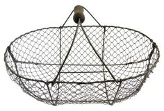 French Oyster Gathering Basket     $275