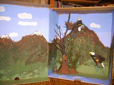 eagle diorama
