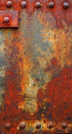 Rust and decay. I like rust - it suggests man made, strong metal but also its fragility against the strength of nature Texture Metal, Texture Art, Rust Paint, Rusted Metal, Metal Art, Patina Metal, Peeling Paint, Art Abstrait, Oeuvre D'art