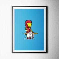 (238) Fancy - Ironman Part Time Job Print #raayt #print #poster #buy #home #decoration #wallart #fancy #artprint #deco #gift #wall #giclee #minimal #scandinavian #geometric #typography #abstract #nordic #walldecoration #posterart #art