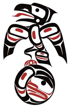 Raven Stealing the Moon Eric Parnell Native Canadian, Native American Art, Seattle Art, Year 7, Totem Poles, Pac Man, Native Art, Art Themes, First Nations
