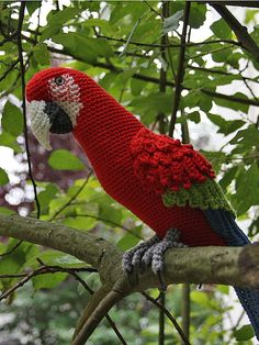 Amigurumi Red-and-Green Macaw/Parrot crochet pattern PDF