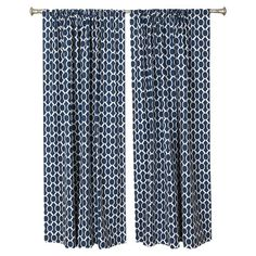 Bring a pop of pattern to your den or master suite with this eye-catching cotton curtain, featuring a linked circles motif. Made in the USA.   ...