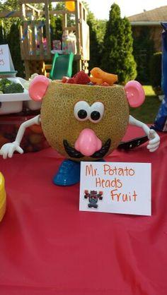 "Toy Story Birthday Party - ""Mr Potato Head Fruit Salad"""