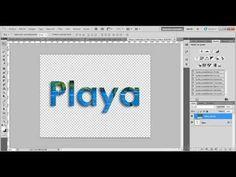 Photoshop CS5 Texto con imagen de relleno - YouTube