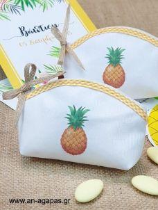 Μπομπονιέρα Βάπτισης Οβάλ Πορτοφολάκι Tropical Fruit Sunglasses Case, Coin Purse, Purses, Wallet, Handbags, Purse, Bags, Diy Wallet, Coin Purses