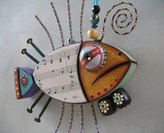 Tuna Fish, Original Found Object Sculpture, Wood Carving, Wall Art, by Fig Jam Studio