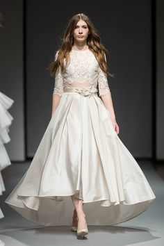 French lace, vintage inspired wedding gown for the modern bohemian bride - Summer - featured at Riga Fashion Week