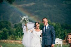 Under the rainbow <3 // Julia & Dustin's Summergrove Estate Wedding // Photo by @figtreewp