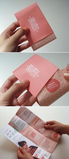 Fabulous fold out CV! - good self promotion idea + many others! Clever.