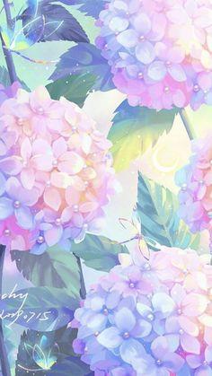 Cute Pastel Wallpaper, Kawaii Wallpaper, Flower Wallpaper, Galaxy Wallpaper, Wallpaper Iphone Cute, Aesthetic Iphone Wallpaper, Aesthetic Wallpapers, Anime Backgrounds Wallpapers, Anime Scenery Wallpaper