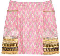 ShopStyle: Matthew Williamson Geometric Print Skirt