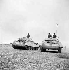 British Crusader tanks during the Africa campaign in WWII.