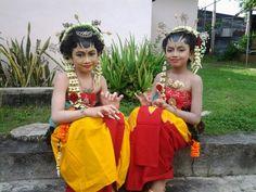 My girls in traditional javanese wedding