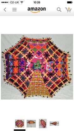 Ethnic colourful patchwork umbrella